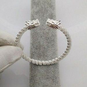 **New** Silver Dragons Head Bracelet 🐉
